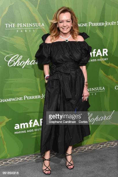 Caroline Scheufele attends the amfAR Paris Dinner 2018 at The Peninsula Hotel on July 4 2018 in Paris France