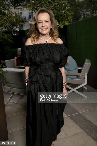 Caroline Scheufele attends the amfAR Paris Dinner at The Peninsula Hotel on July 4 2018 in Paris France