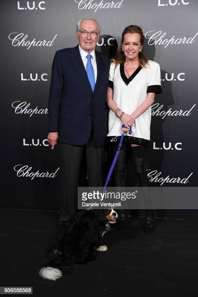 Caroline Scheufele Chopard and her father KarlFriedrich Scheufele attend the Chopard Gentleman's Night during the 71st annual Cannes Film Festival at...