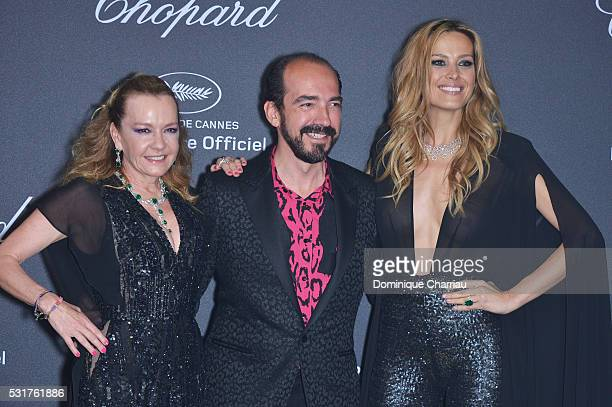 Caroline Scheufele Alexis Veller and Petra Nemcova attend the Chopard Party at Port Canto during the 69th annual Cannes Film Festival on May 16 2016...