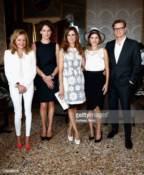 Caroline Scheufele Ksenia Rappoport Lidia Firth Virginie Ledoyen and Colin Firth attend Chopard Photocall during the 70th Venice International Film...
