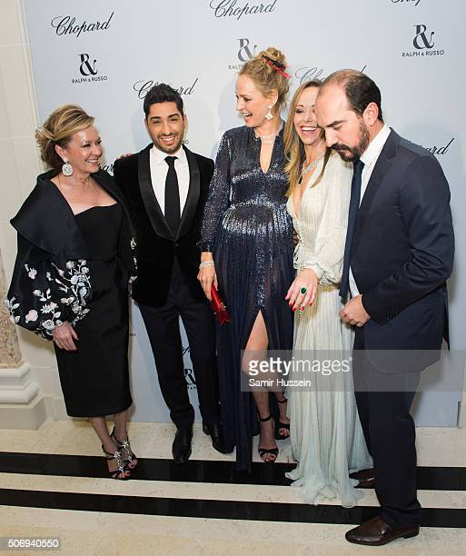 Caroline Scheufele Michael Russo Uma Thurman Tamara Ralph and French Film Director attend the Ralph Russo and Chopard dinner during part of Paris...