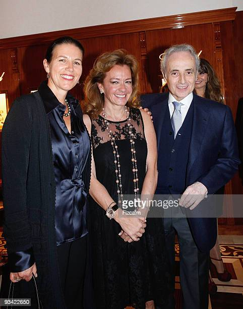 Caroline Scheufele opera singer Jose Carreras and his wife attend Chopard Flagship Boutique Launch at Hotel La Mamounia on November 25 2009 in...