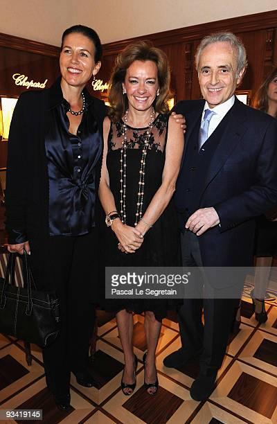 Caroline Scheufele Opera Singer Jose Carreras and wife Jutta Jager attend Chopard Flagship Boutique Launch in Hotel La Mamounia at Hotel La Mamounia...