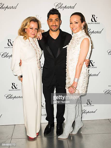 Caroline Scheufele Tamara Ralph and Michael Russo attend the Ralph Russo And Chopard Host Dinner as part of Paris Fashion Week on July 4 2016 in...