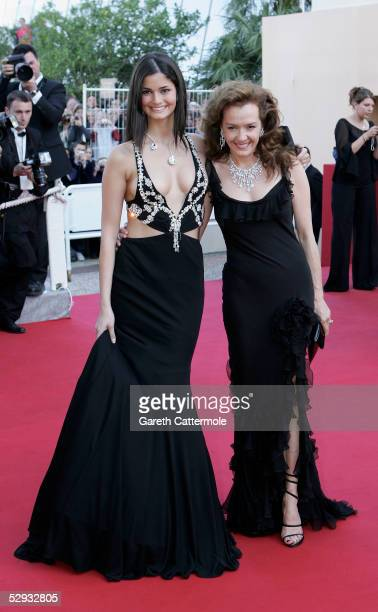 Caroline ScheufeleGruosi and Miss Europe 2005 Shahrivar Shermine of Germany attend the screening of Peindre Ou Faire L'Amour at the Palais during the...