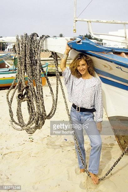 Sterne des Südens Nabeul Tunesien Hafen Schiff Boot Schauspielerin