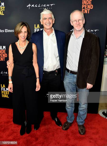 Caroline Schweich Remi Kessler Robert McFalls attend the 2018 LA Film Festival Opening Night Premiere Of 'Echo In The Canyon' at John Anson Ford...