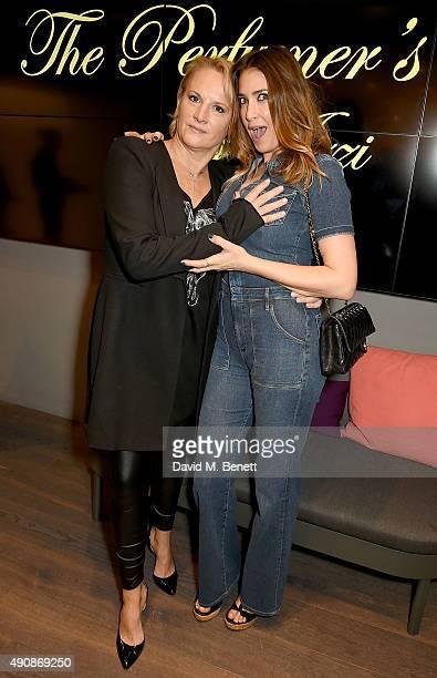 Caroline Shapiro and Lisa Snowdon attends the Azzi Glasser Fragrance Launch at Harvey Nichols on October 1 2015 in London United Kingdom