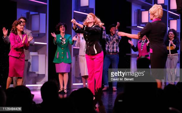 Caroline Sheen bows at the curtain call during the Gala Night performance of 9 To 5 The Musical at The Savoy Theatre on February 17 2019 in London...