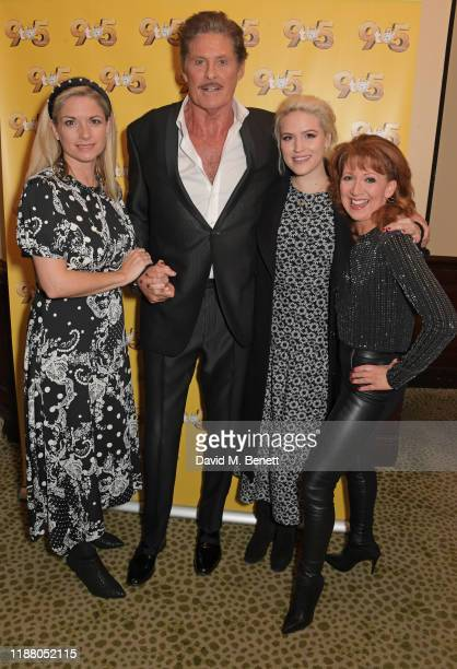 Caroline Sheen, David Hasselhoff, Natalie McQueen and Bonnie Langford attend the gala party to celebrate David Hasselhoff joining the cast of the...