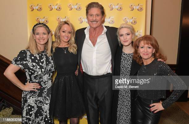 Caroline Sheen, Hayley Roberts Hasselhoff, David Hasselhoff, Natalie McQueen and Bonnie Langford attend the gala party to celebrate David Hasselhoff...