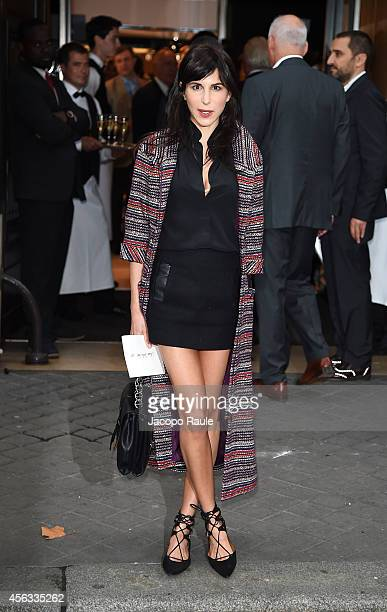 Caroline Sieber arrives at the Sonia Rykiel show during Paris Fashion Week Womenswear SS 2015 on September 29 2014 in Paris France