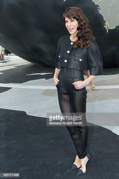 Caroline Sieber attends the Chanel Fall/Winter 2013 ReadytoWear show as part of Paris Fashion Week at Grand Palais on March 5 2013 in Paris France