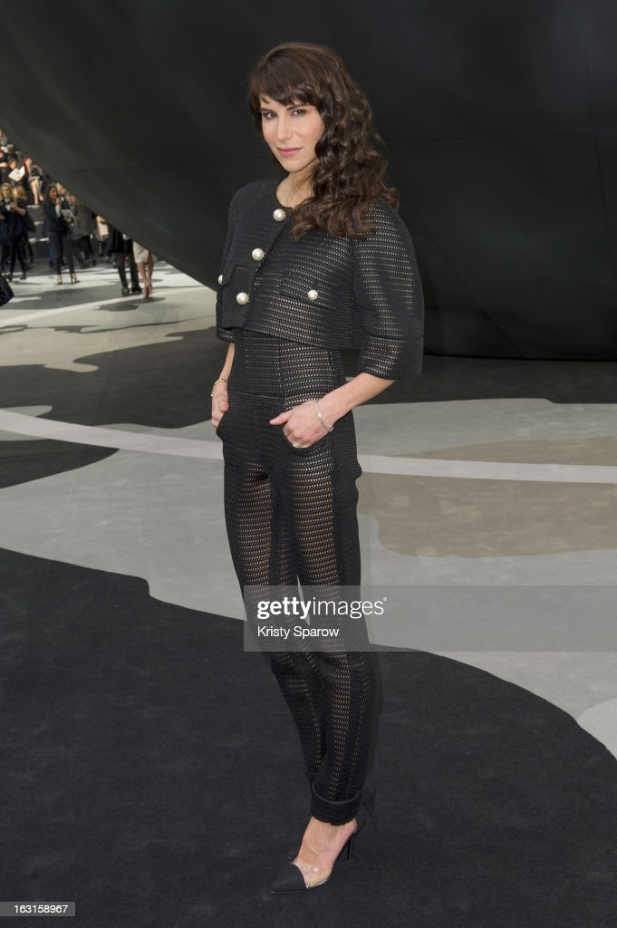 Caroline Sieber attends the Chanel Fall/Winter 2013/14 Ready-to-Wear show as part of Paris Fashion Week at Grand Palais on March 5, 2013 in Paris, France.