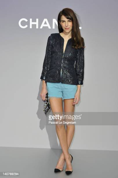 Caroline Sieber attends the Chanel ReadyToWear Fall/Winter 2012 show as part of Paris Fashion Week at Grand Palais on March 6 2012 in Paris France