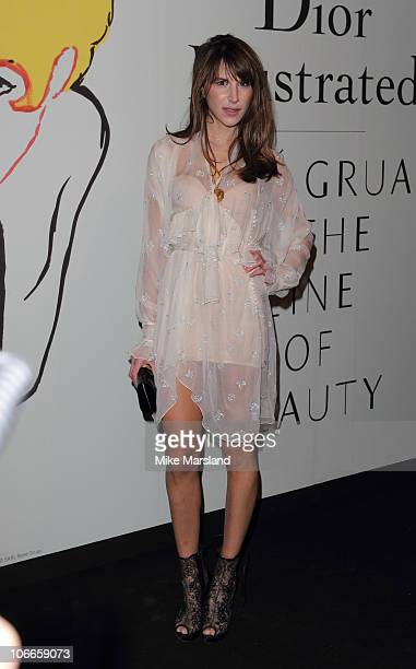 Caroline Sieber attends the exhibition featuring Dior Haute Couture dresses drawings and original designs by renowned fashion illustrator Rene Gruau...