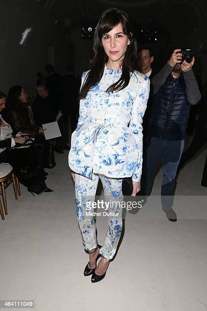 Caroline Sieber attends the Giambattista Valli show as part of Paris Fashion Week Haute Couture Spring/Summer 2014 on January 20 2014 in Paris France