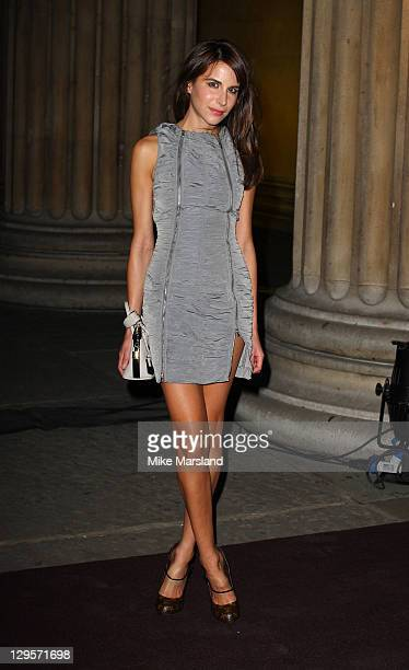 Caroline Sieber attends the Louis Vuitton Art Talk with Grayson Perry at the British Museum on October 18 2011 in London England