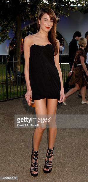 Caroline Sieber attends the Serpentine Summer Party at The Serpentine Gallery on July 11 2007 in London England
