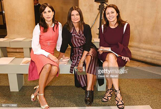 Caroline Sieber Dame Natalie Massenet and Caroline Rush attend the Christopher Kane show during London Fashion Week Spring/Summer collections 2017 on...