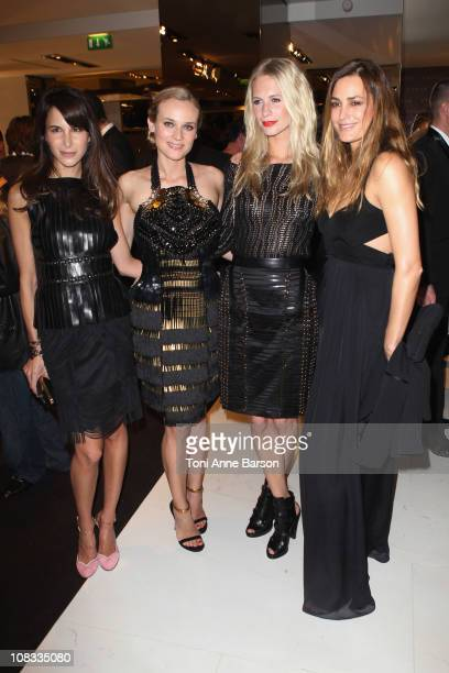 Caroline Sieber Diane Kruger Poppy Delevingne and Yasmin Le Bon attend the Vogue Paris Cocktail hosted by Carine Roitfeld in honour of Frida Giannini...