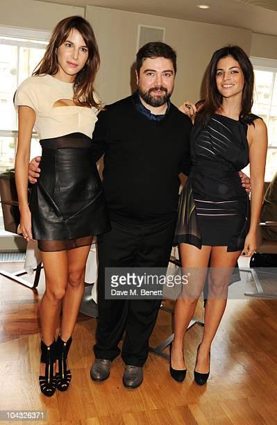 Caroline Sieber Emilio de la Morena and Julia RestoinRoitfeld attend tea party hosted by Julia RestoinRoitfeld for fashion designer Emilio de la...