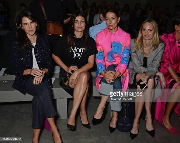 Caroline Sieber Julia Restoin Roitfeld Yana Peel and Lauren Santo Domingo attend the Christopher Kane front row during London Fashion Week September...