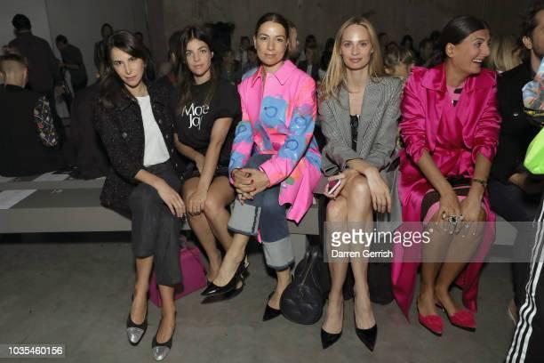 Caroline Sieber Julia Restoin Roitfeld Yana Peel and Lauren Santo Domingo attend the Christopher Kane show during London Fashion Week September 2018...