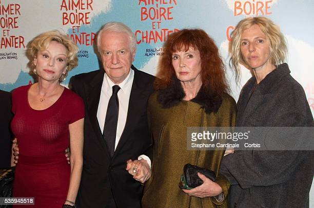 Caroline Sihol Andre Dussolier Sabine Azema and Sandrine Kiberlain attend the premiere of 'Aimer Boire et Chanter' in Paris