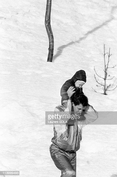 Caroline, Stefano and Andrea In Saint Moritz, Switzerland On March 02, 1985-Andrea and Stefano.
