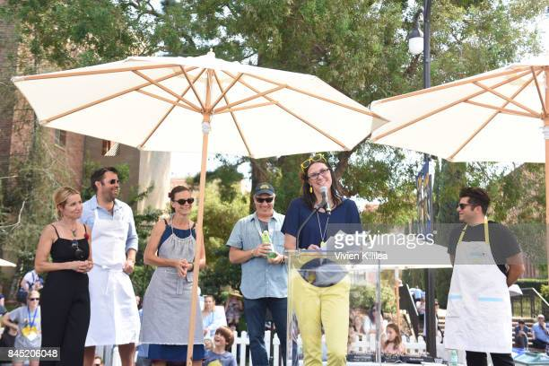 Caroline Styne David Lentz Suzanne Goin Alex's Lemonade Stand Foundation CoExecutive Directors JJay Scott and Liz Scott and Billy Harris attend the...