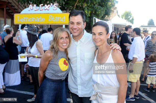 Caroline Styne Jimmy Kimmel and Suzanne Goin attend LA Loves Alex's Lemonade event at Culver Studios on September 28 2013 in Culver City California