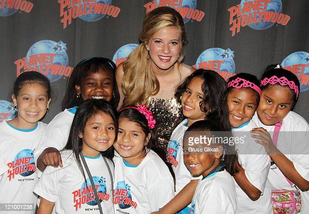 Caroline Sunshine of Disney's 'Shake it UP' during a special meet greet with 10 lucky children from WHEDco a local outreach program as she visits...