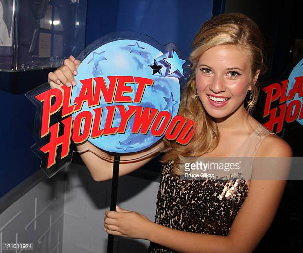 Caroline Sunshine of Disney's 'Shake it UP' visits Planet Hollywood Times Square on August 12 2011 in New York City