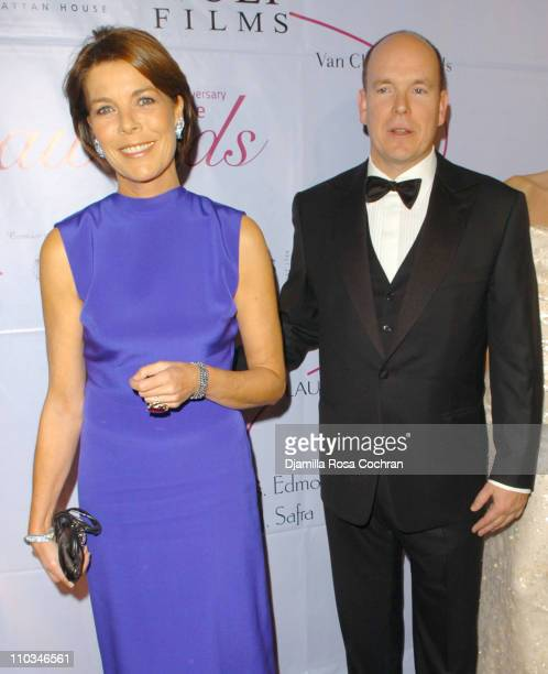 Caroline The Princess of Hanover and Prince Albert of Monaco attend the 25th Anniversary Princess Grace Awards Gala at Sotheby's on October 25th 2007...