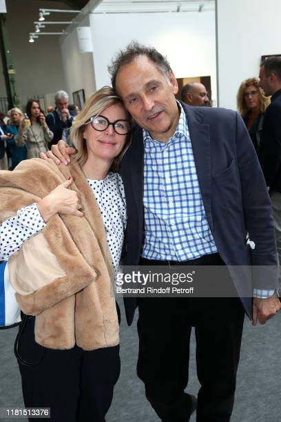 Caroline Thompson and JeanPierre Weill attend the FIAC 2019 International Contemporary Art Fair Press Preview at le Grand Palais on October 16 2019...
