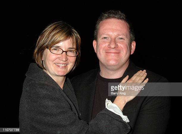 Caroline Thompson and Matthew Bourne during American Cinematheque Screening of Tim Burton's Edward Scissorhands and QA with Matthew Bourne and...