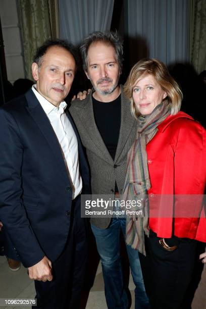 Caroline Thompson her brother Christopher Thompson and JeanPierre Weill attend the Weill Menswear Fall/Winter 20192020 show as part of Paris Fashion...