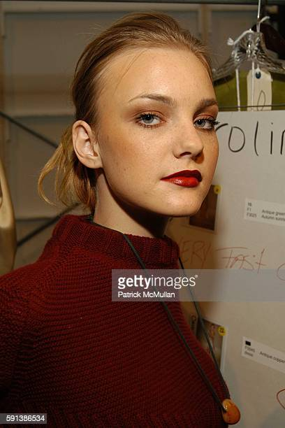 Caroline Trentini attends Esteban Cortazar Fall 2005 Fashion Show at The Plaza at Bryant Park on February 6 2005 in New York City