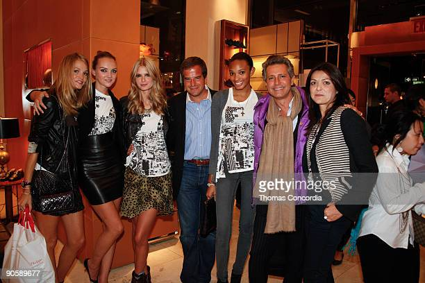 Caroline Trentini Julia Stegner and jewelry designer Carlos Souza at the Tod's celebration of Fashion's Night Out at Tod's Boutique on September 10...