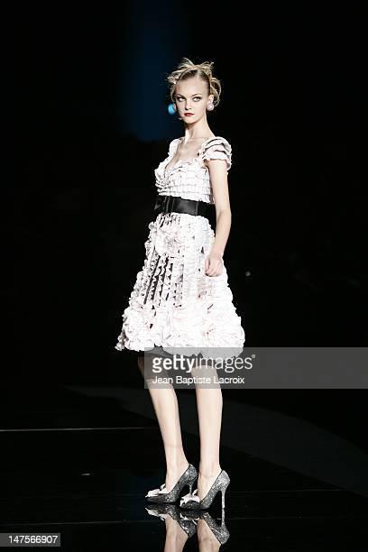 Caroline Trentini wearing Valentino Haute Couture Spring/Summer 2005