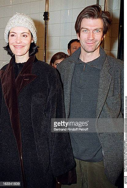 Caroline Tresca and Philippe Caroit at theLanvin Catwalk Pret-A-Porter Menswear Autumn Winer 2000-2001 In Paris.