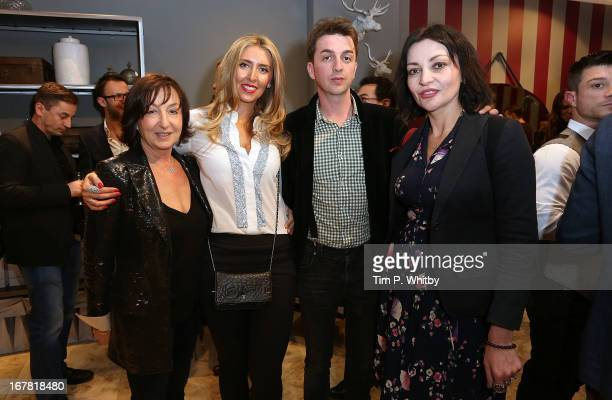 Caroline True Anna Dodonova Danny Goffey and Pearl Lowe at Anna Casa Interiors celebrating the showroom redesign and launch of Caroline True...