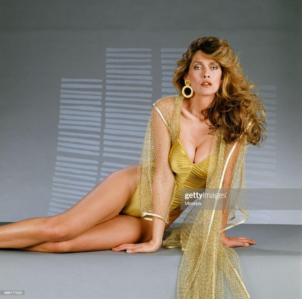 Caroline 'Tula' Cossey, 1990 : News Photo