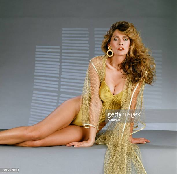 Caroline 'Tula' Cossey, a model who is a transgender women, and has appeared in a James Bond film. May 1990.