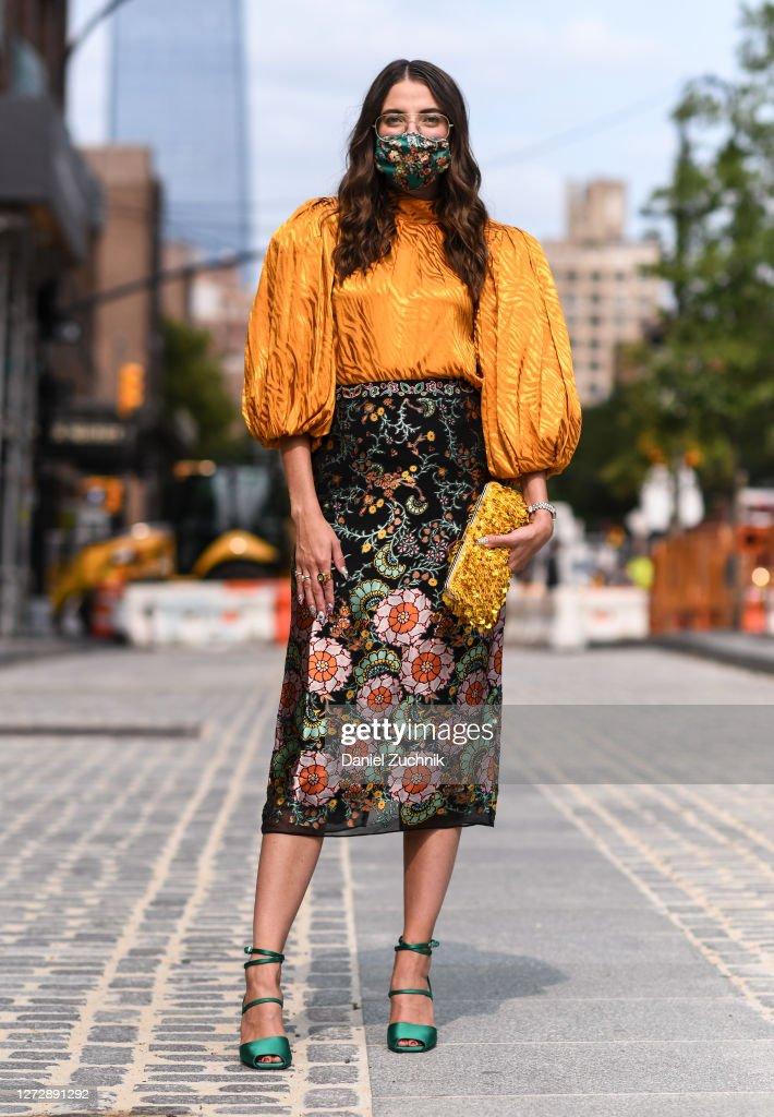 Street Style - September 2020 - New York Fashion Week : Photo d'actualité