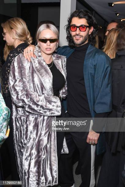 Caroline Vreeland and Giampiero Tagliaferri attend Oliver Peoples x Tasya van Ree Celebrates Who is Oliver Exhibition at LECLAIREUR on February 13...