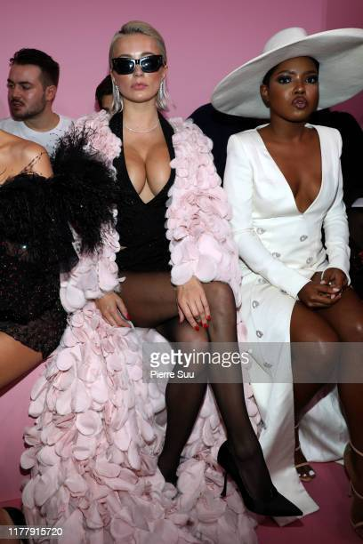 Caroline Vreeland and Ryan destiny attends the Ralph Russo Womenswear Spring/Summer 2020 show as part of Paris Fashion Week at Le Centorial on...