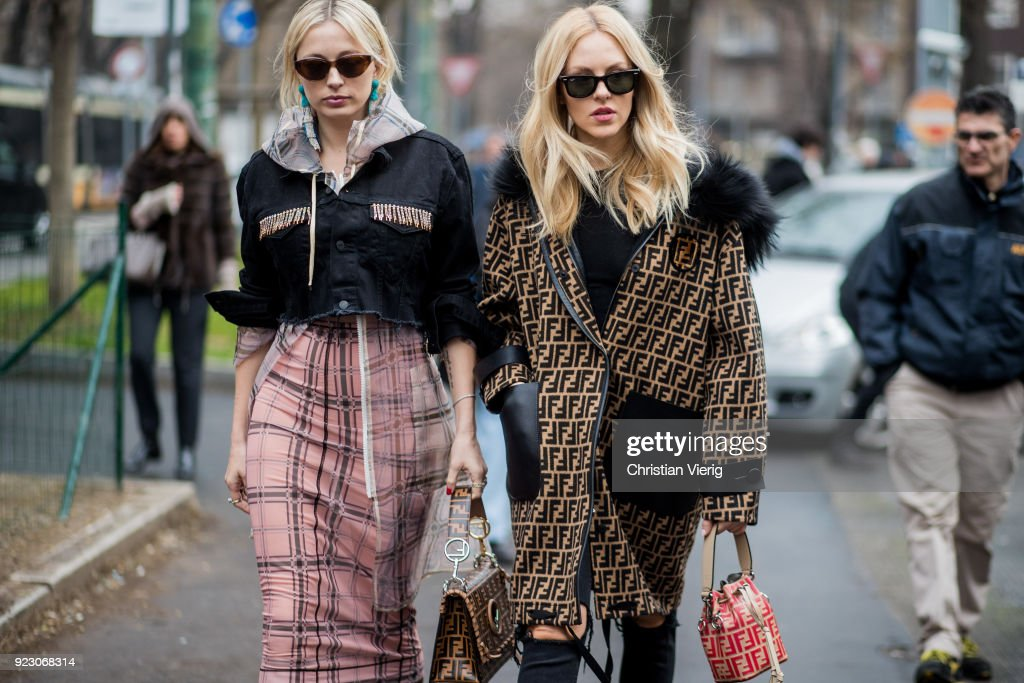 Street Style: February 22 - Milan Fashion Week Fall/Winter 2018/19 : News Photo